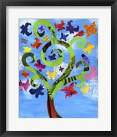 Butterfly Tree Framed Print