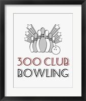 Framed 300 Club Bowling