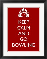 Framed Keep Calm and Go Bowling