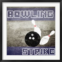 Framed Bowling Strike