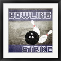 Framed Bowling Strike