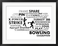 Framed Bowling Text