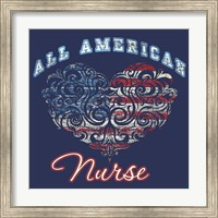 Framed All American Nurse