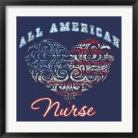 All American Nurse Framed Print