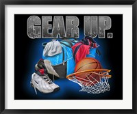 Framed Gear Up Basketball