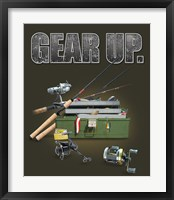 Gear Up Fishing Framed Print