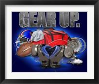 Framed Gear Up Football