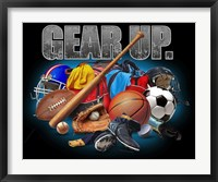 Gear Up Sports Framed Print