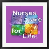 Nurses Care Framed Print