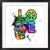 World Peace & Love Framed Print