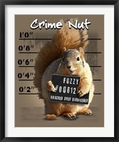 Crime Nut Framed Print