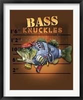 Bass Knuckles Framed Print