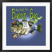 Bassin'  Gas Framed Print