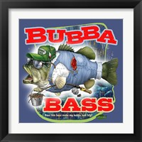 Bubba Bass - Blue Framed Print