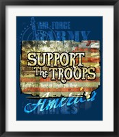 Framed Support The Troops America