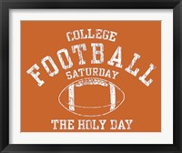Framed College Football