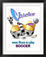Framed Born Soccer