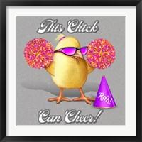 Cheer Chick Framed Print