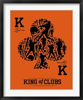 Framed King of Clubs