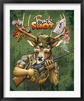 Framed Deer / Deer / Elk Buck (Green)