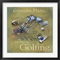 Framed Golfing
