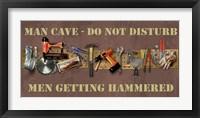 Hammered Framed Print