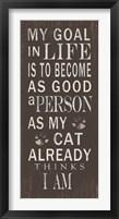 Framed My Goal - Cats