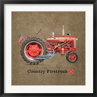 Fire Tractor Framed Print