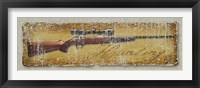 Framed Hunting Rifle