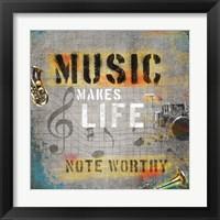 Framed Music Makes Life