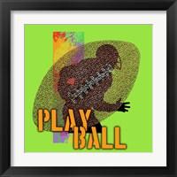 Framed Play Ball Football