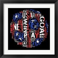 Framed Soccer USA