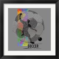 Framed Soccer - Player