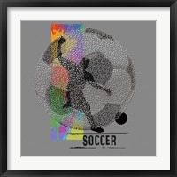 Framed Soccer - Player