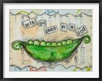 Framed Let's Be Peas