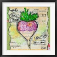 Framed One Good Turnip