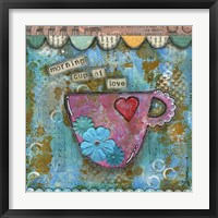 Framed Morning Cup of Love