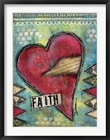 Faith Heart Framed Print