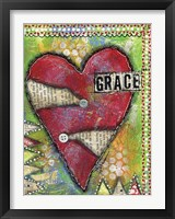 Framed Grace Heart