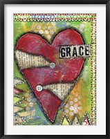 Grace Heart Framed Print