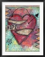 Framed Hope Heart