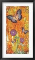 Framed Violet Flutters