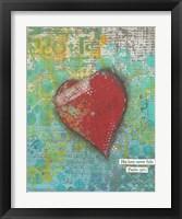 Framed Trust Heart
