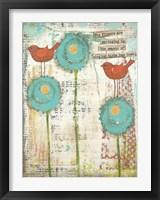 Framed Singing Birds