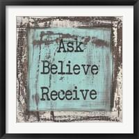 Framed Ask Believe Receive