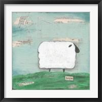 Framed Hope Sheep
