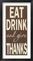 Framed Eat Drink