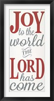 Framed Joy the the World The Lord