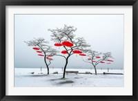 Framed Red Umbrellas