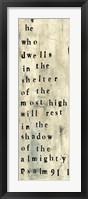 Framed Psalm